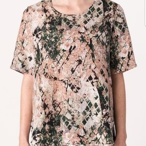 MARGARET O'LEARY Silk tshirt blouse